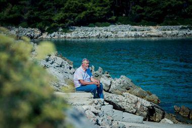 Mali Losinj, 210918. Legendarni ronioc Dubravko Balenovic povodom i izdavanja knjige Moje posljednje ronjenje. Foto: Neja Markicevic / CROPIX