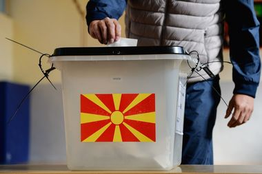 5651614 30.09.2018 A man casts his ballot at a polling station during a referendum in Skopje, Macedonia, September 30, 2018. Macedonians come to a referendum to vote for changing their country's name to North Macedonia that will end an old dispute with neighbouring Greece and pave the way to NATO membership. Sputnik, Image: 389131918, License: Rights-managed, Restrictions: , Model Release: no, Credit line: Profimedia, Sputnik