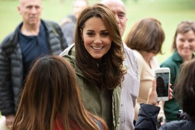 October 2, 2018 - London, London, United Kingdom - Catherine, Duchess Of Cambridge meets members of the public during a visit to Sayers Croft Forest School and Wildlife Garden at Paddington Recreation Ground, London, United Kingdom, 02 October 2018., Image: 389475991, License: Rights-managed, Restrictions: * UK Rights OUT *, Model Release: no, Credit line: Profimedia, Zuma Press - News