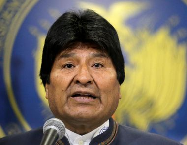 Bolivia's President Evo Morales speaks during a news conference before a trip to The Hague to listen to the United Nation's (U.N.) International Court of Justice (CIJ) verdict on Bolivia's ocean access next Monday, in El Alto, outskirts of La Paz, Bolivia, September 29, 2018. REUTERS/David Mercado