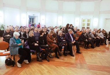 Zagreb, 211118. Novinarski dom, Perkovceva 2. Predstavljanje monografije Jasenovac Ive Goldsteina u Nakladi Frakture. Na fotografiji: publika. Foto: Zeljko Puhovski / CROPIX