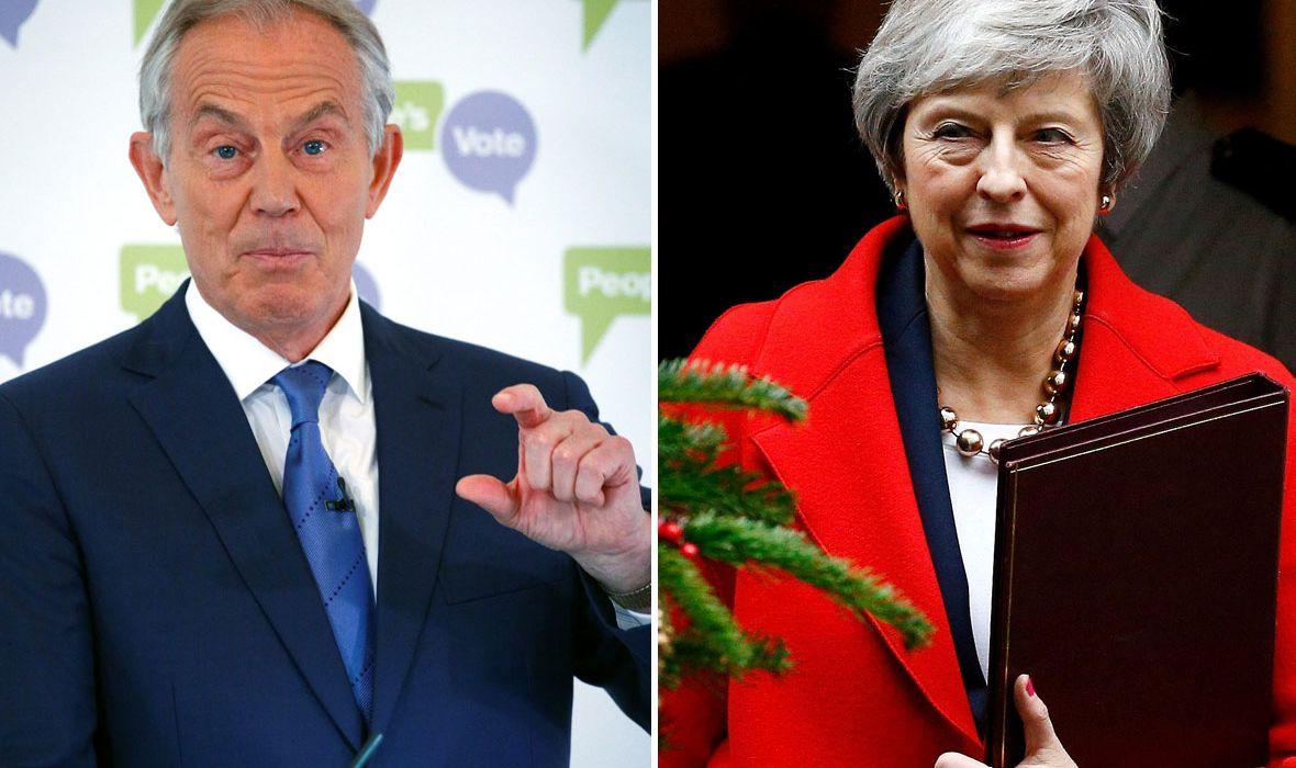 UZRUJANA THERESA MAY OPTUŽILA TONYJA BLAIRA ZA SABOTAŽU 'Činjenica da je otišao u Bruxelles i pokušao potkopati pregovore o Brexitu je uvreda'