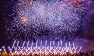 Zagreb, 190619. Bundek. Posljednji dan medjunarodnog festivala vatrometa na kojoj je nastupila ekipa iz Mirnoveca. Na fotografiji: Program vatrometa ekipe iz Mirnoveca. Foto: Goran Mehkek / CROPIX