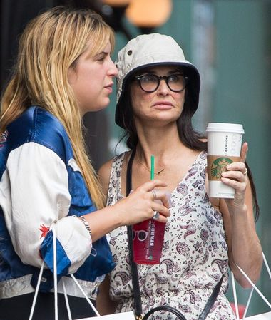 Exclusive... 51804448 As she struggles to deal with the tragic death that took place across the country at her LA home, Demi Moore looks worse for wear while out shopping with daughters Scout & Tallulah in New York City, New York on July 20, 2015. This is first time Demi has been spotted after a man was found dead Sunday morning in a pool at her Beverly Hills estate. She stated publicly that she was in 'absolute shock' and she's clearly turned to family bonding and retail therapy to cope with the unspeakable tragedy. Lawyers say that Moore could face a lawsuit for negligent supervision, despite being nowhere near the property during the night's events. NO WEB USE RESTRICTIONS APPLY: NO WEBSITE USE, Image: 253519825, License: Rights-managed, Restrictions: RESTRICTIONS APPLY: NO WEBSITE USE, Model Release: no, Credit line: Profimedia, Backgrid USA