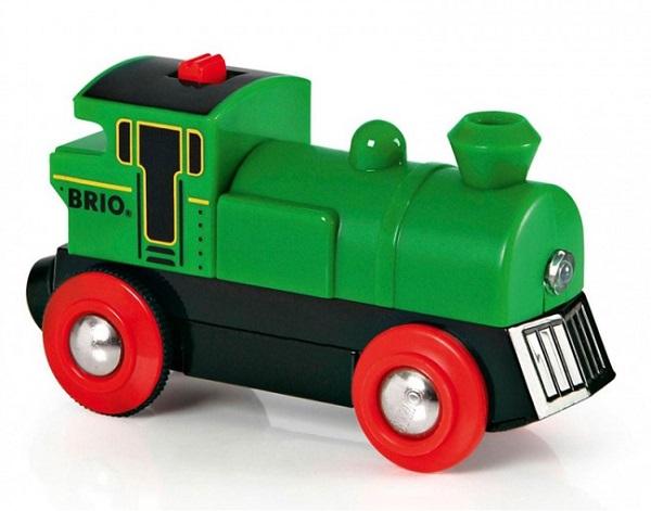 Zelena električna lokomotiva