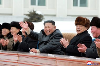 North Korean leader Kim Jong Un accompanied by Pak Pong Ju, vice-chairman of the State Affairs Commission of the DPRK, attends a ceremony at the township of Samjiyon County, North Korea, in this undated picture released by North Korea's Central News Agency (KCNA) on December 2, 2019. KCNA via REUTERS ATTENTION EDITORS - THIS IMAGE WAS PROVIDED BY A THIRD PARTY. REUTERS IS UNABLE TO INDEPENDENTLY VERIFY THIS IMAGE. NO THIRD PARTY SALES. SOUTH KOREA OUT. NO COMMERCIAL OR EDITORIAL SALES IN SOUTH KOREA.