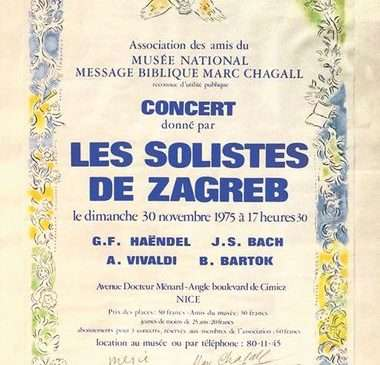 CHAGALL, PICASSO I MIRÓ U MUZEJU GRADA ZAGREBA Malo je poznato da je plakat za Zagrebačke soliste oblikovao slavni bjeloruski slikar