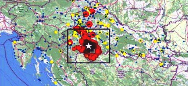 Potres – iz minute u minutu